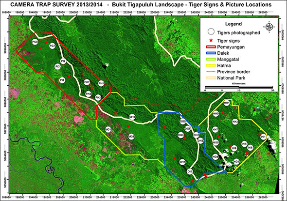 Bukit Tigapulah project map